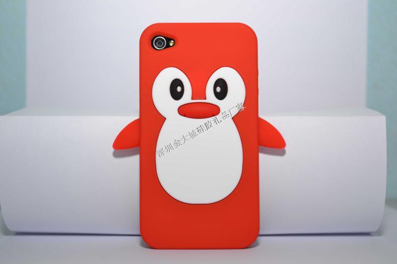 IPhone4/4s立体企鹅手机保护套