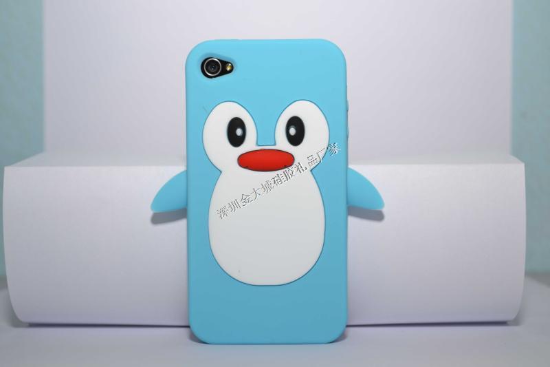 IPhone5立体企鹅手机保护套