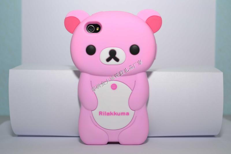 苹果iphone5卡通小熊手机壳