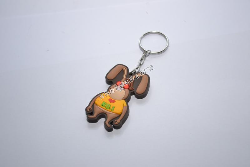PVC卡通兔钥匙扣