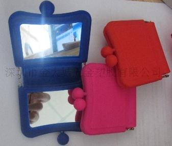 硅胶口袋化妆小镜子